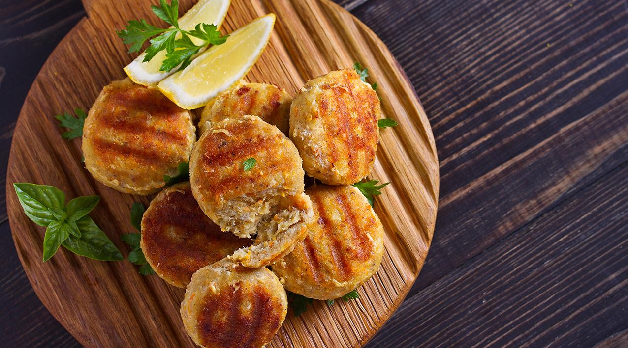 Hambúrgueres de Atum e Ovo